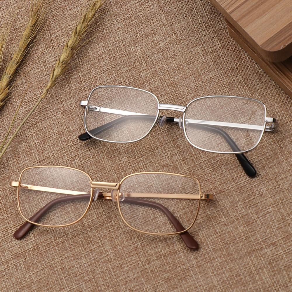 Masculino feminino óculos de leitura clear len metal frame presbiopia óculos lupa eyewear + 1.0 + 1.5 2.0 + 2.5 3.0 + 3.5 + 4.0 +