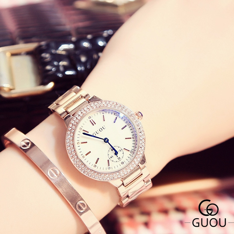 2019 New Women Sapphire Crystal Rhinestone Watch Fashion Women Diamond Rose Gold Quartz Watch Luxury Female Waterproof Clocks enlarge