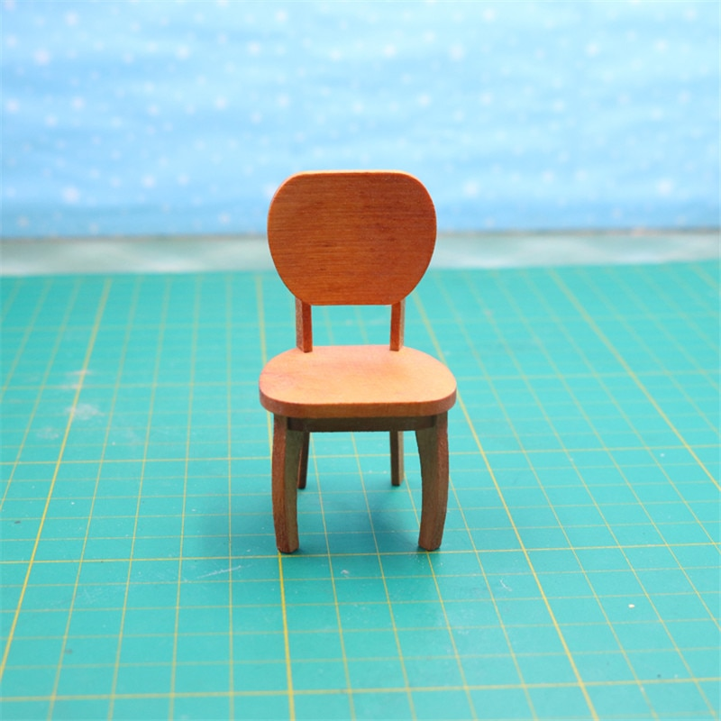 Doube K 112 кукольный домик мебель для кукол kawaii миниатюрный деревянный стул для девочек Детские игрушки для ролевых игр подарки мебель игрушка