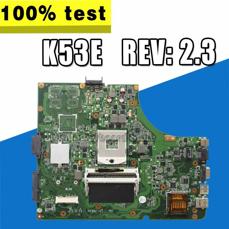 K53E материнская плата REV 2,3 Para ASUS K53SJ K53SV A53S K53S X53S P53S материнская плата для ноутбука K53E K53E материнская плата teste OK