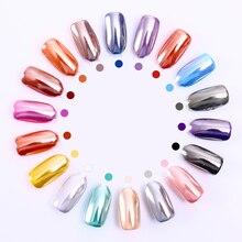 Miroir argent ongles poudre brillant Chrome Pigment Nail Art paillettes poussière conseils décoration bricolage pour UV Gel Plish 1 boîte