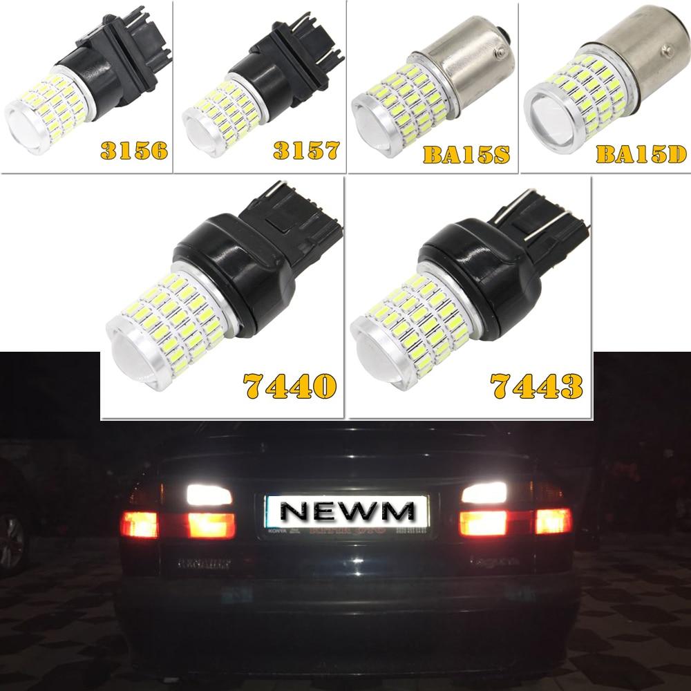2x1156 ba15s 1157 bay15d p21 014 carro luzes led freio cauda lâmpadas 54smd auto traseiro reverso lâmpadas dc 12 v t20 7443 7440 bulbo