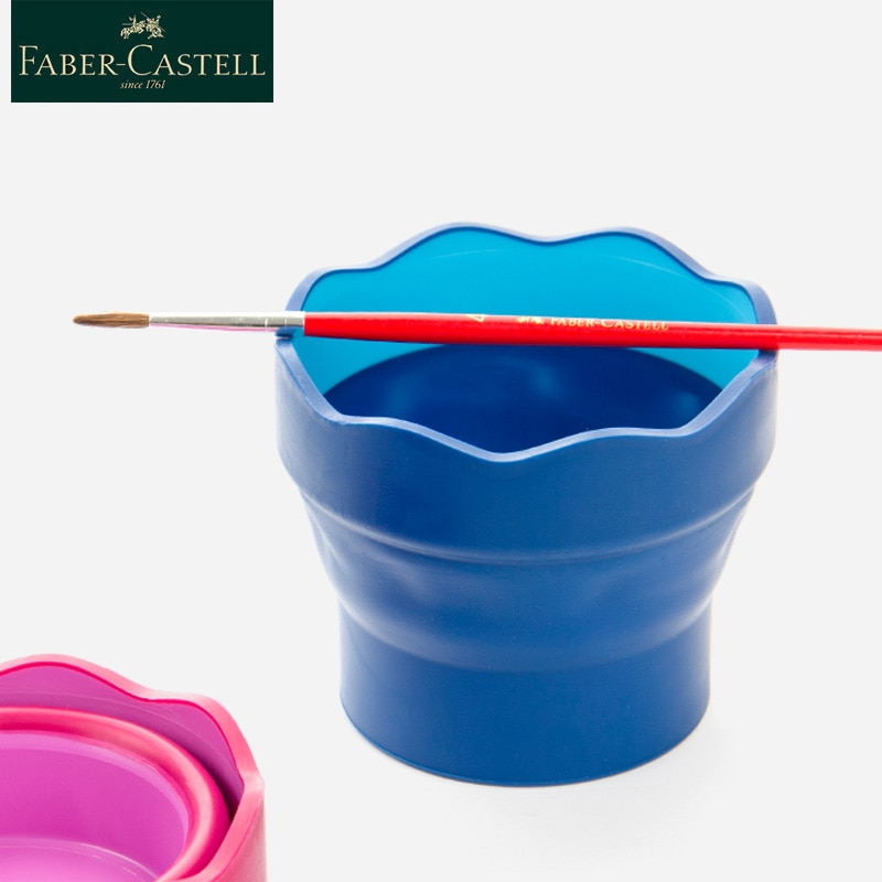 Faber Castell de cepillo de lavar cubo escalable telescópica arte lavado vaso para pluma 1 Uds plegable cubo de agua taza de pintura y dibujo arte suministros