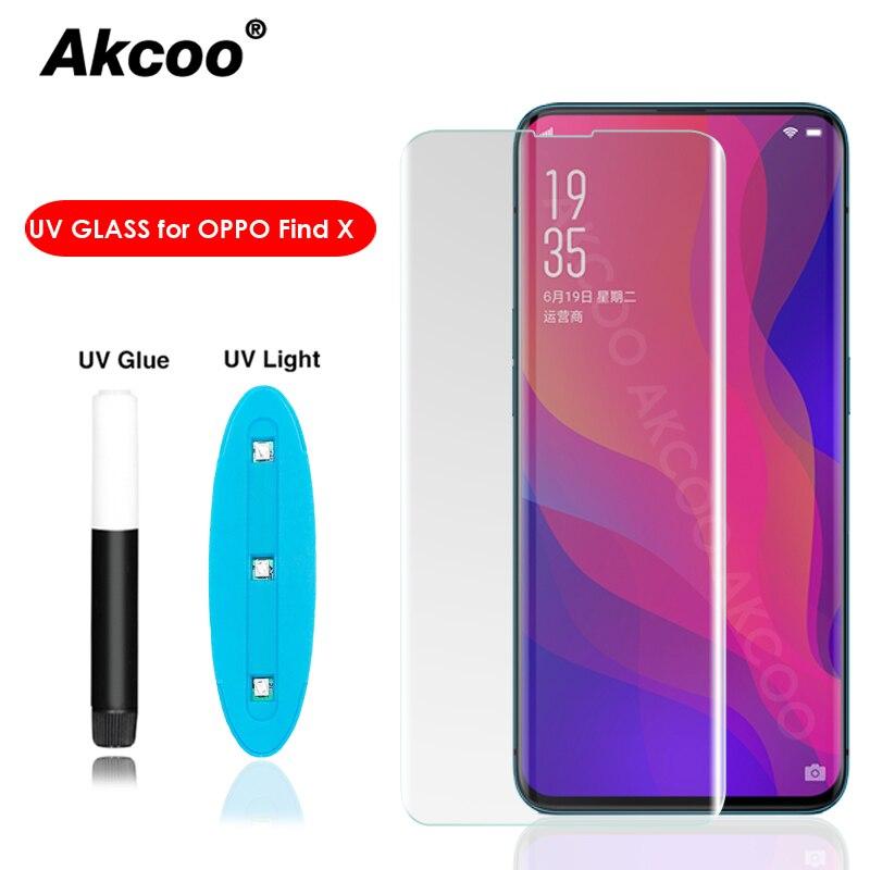 Akcoo Nano UV жидкое клейкое стекло для защиты экрана для OPPO Find X полное покрытие закаленное стекло прозрачное find x защита для экрана