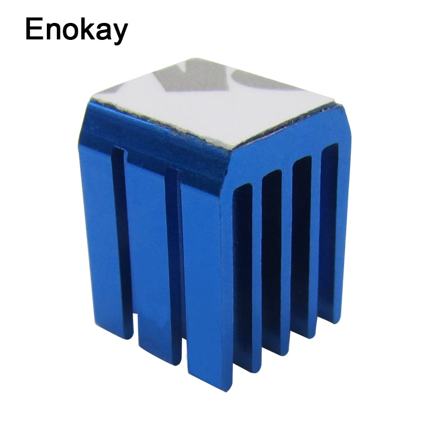 ¡Venta al por mayor! 100 piezas de controlador de enfriador de agua 9x9x12mm radiador de aluminio disipador de calor enfriador de conjunto de chips disipador de calor