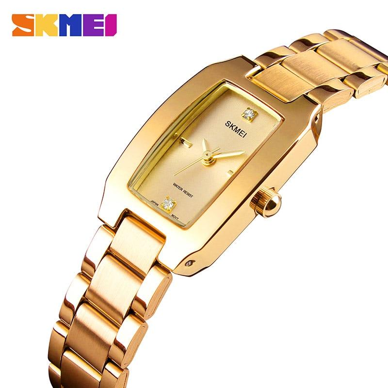 SKMEI Luxury Brand Women Watches Diamond Dial Bracelet Wristwatch For Girl Elegant Ladies Quartz Watch Female Dress Watch 1400