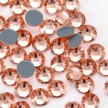 New SMC Cut Light Peach Iron on Rhinestone ss16 ss20 ss30 Hotfix Rhinestones AAAAA Grade for Luxury DIY things