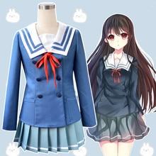 Anime Kyokai no Kanata porque Kuriyama Mirai Nase Mitsuki Cosplay Halloween niñas cosplay japonés en la Universidad traje uniforme