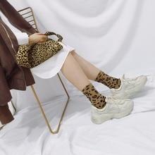 SP&CITY Fashion Leopard Patterned Harajuku Short Socks Women Hipster Cool Ankle Socks Female Cotton Modern Funny Sock Casual