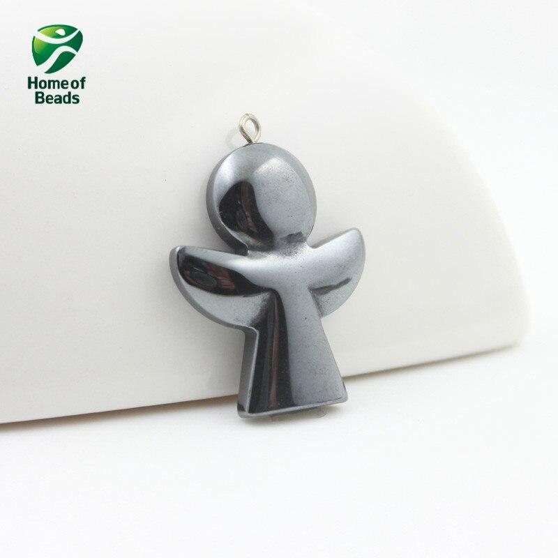 Colgante de Ángel hematita de moda de gran oferta, accesorios diy, envío gratis HP1098