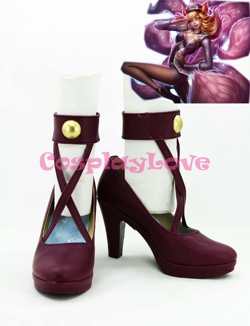 أحذية بتصميم أمريكي مخصص لعبة LOL The تسعة الذيل Fox ALi تأثيري أحذية أحذية طويلة أحذية لعيد الميلاد هالوين مهرجان