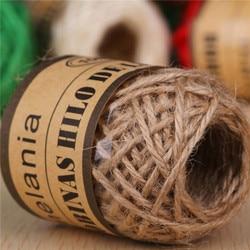 10 m/rolo natural cordas tecido corda de cânhamo corda diy casamento tag/foto corda de parede casa corda corda corda corda de juta decorativa corda de jardinagem