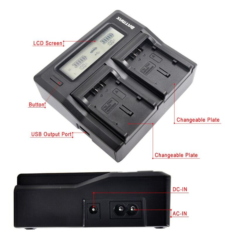 Ultra Schnelle VW-VBG6 VW VBG6 LCD Dual Ladegerät für Panasonic AG-HMC71 AG-HMC73 AG-HMC-150 AG-HMC151E AG-HMC153MC AG-AC130 AG-AC160