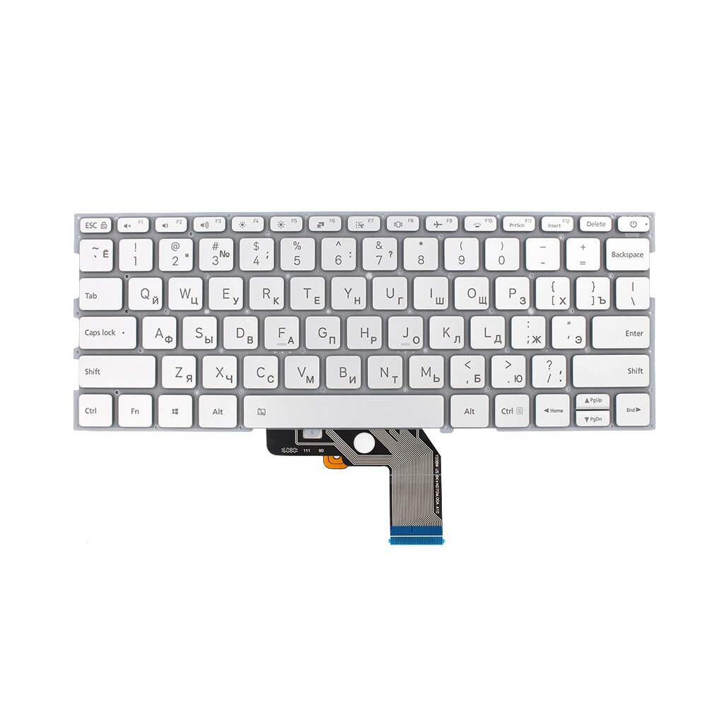New Russian Laptop Keyboard For Xiaomi MI Air 13.3 inch 9Z.ND7BW.001 490.09U07.0D01 Silver Keyboard With Backlit