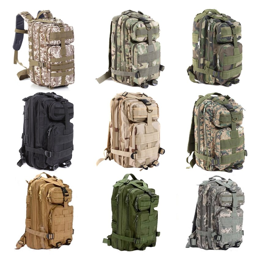 Large Capacity 30L Hiking Camping Bag Army Military Tactical Trekking Rucksack Backpack Camo storage bag