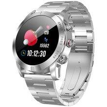 Montre intelligente 1.3 pouces Bracelet étanche moniteur de fréquence cardiaque nombre de pas rappel sédentaire IP68 350mAh Bracelet de montre intelligent intégré