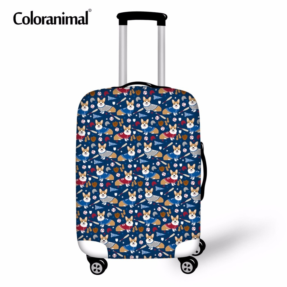 Coloranimal 3D Ball Print maleta funda impermeable viaje en carretera equipaje cubierta 18-30 pulgadas galés Corgi Protectiver cubierta