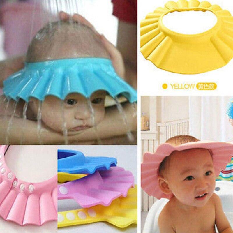 1 шт., безопасный шампунь для душа, ванны для купания, защита, мягкая шапочка, шапка для ребенка, защита для мытья волос, Bebe, детская шапочка дл...