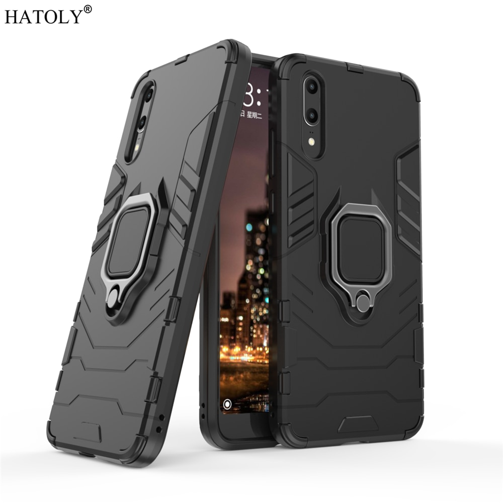 For Huawei P20 Case Cover for Huawei P20 Magnetic Finger Ring Phone Case Shell Bumper Protective Har