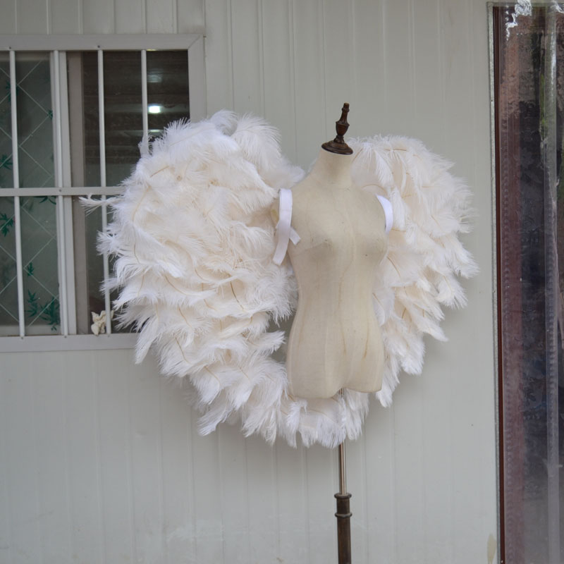 Косплей 2018 белое страусиное Крыло ангела Подиум нижнее белье шоу реквизит фестиваль ангельские крылья из перьев костюм для вечеринки