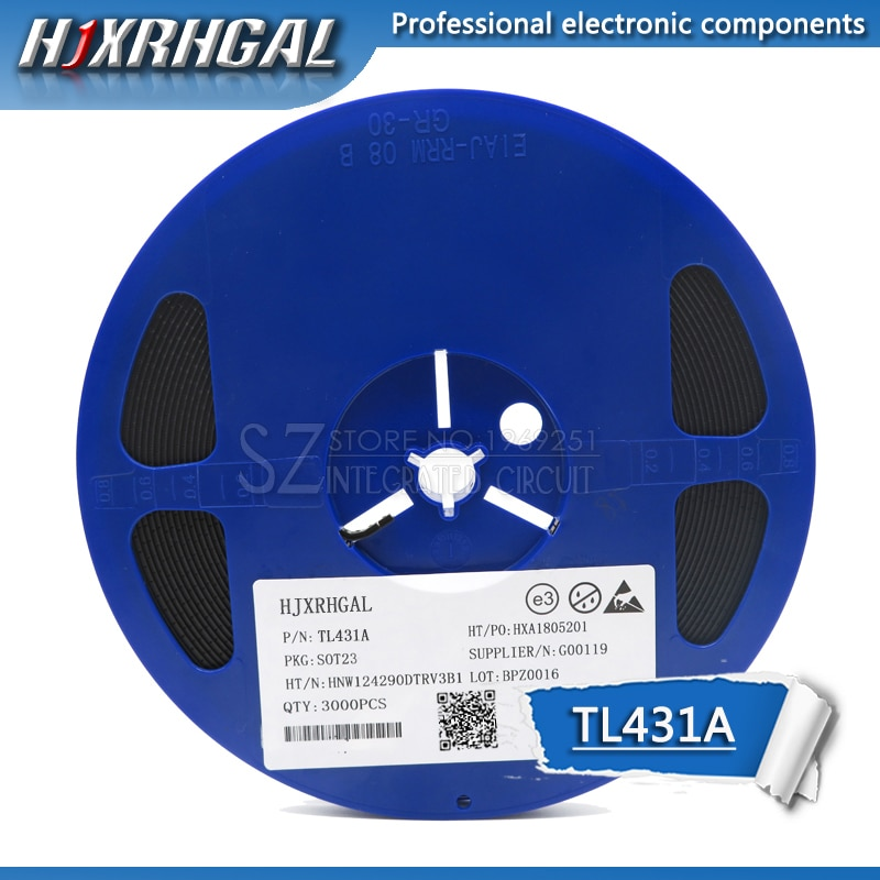 1 carrete 3000 Uds TL431A TL431 SOT-23 SMD transistor nuevo y original hjxrhgal
