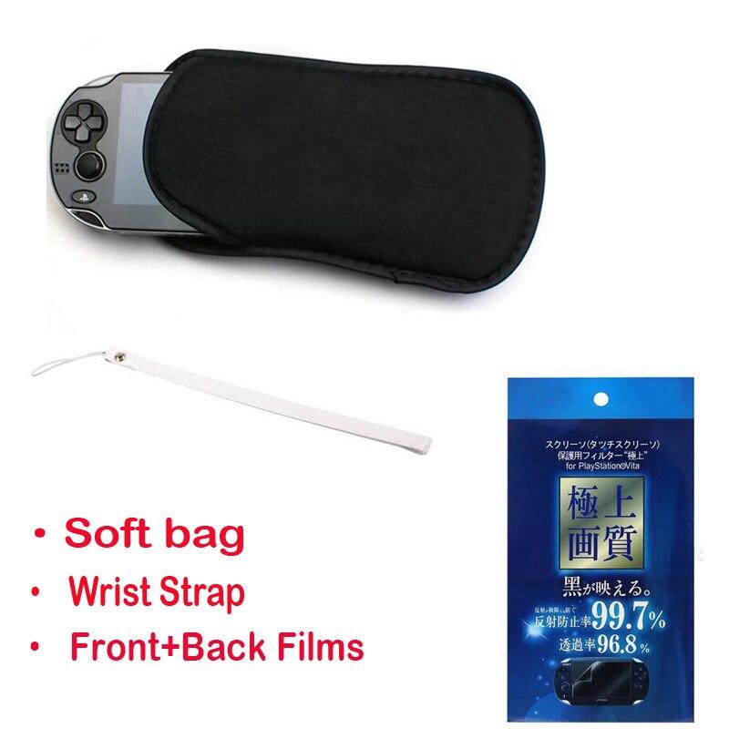 3в1 защитный чехол для хранения + ремешок на запястье + Защитная пленка для экрана чехол для Sony PlayStation PS Vita PSV 1000 2000 Slim
