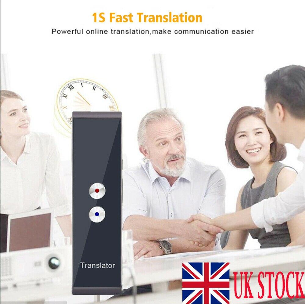 Traductor de voz instantáneo inteligente 40 + idiomas T8 en tiempo Real Multi-idiomas herramienta de traducción interactiva de voz Bluetooth portátil
