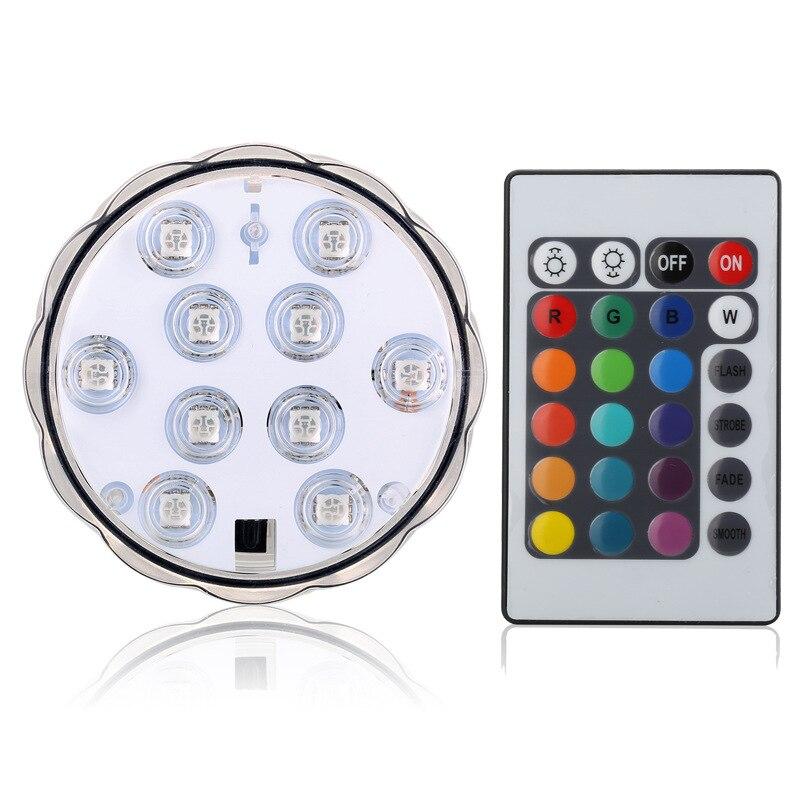 Luz LED de buceo para acuario a Control remoto, luz LED sumergible impermeable, iluminación con forma de vela, lámpara para acuario
