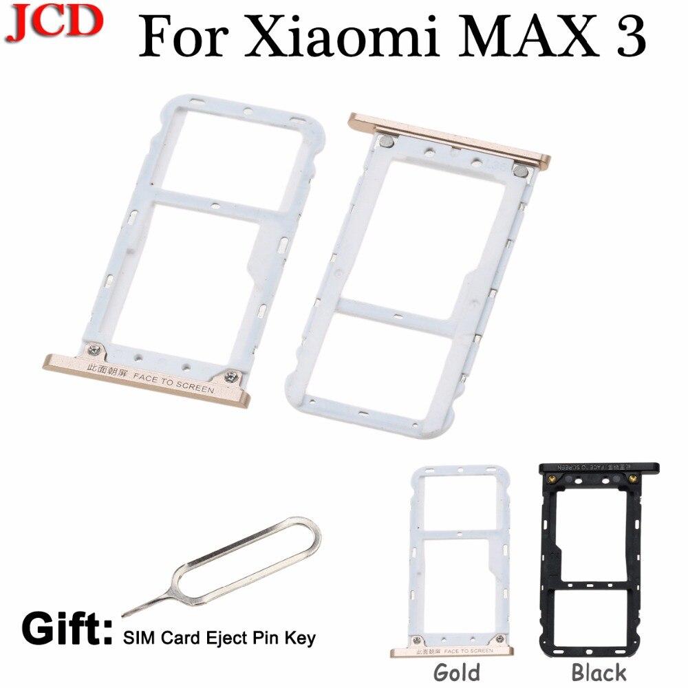 JCD pour Xiao mi Max 3 Nano SIM/mi cro carte SD porte-plateau pour Xiao mi mi Max 3 carte Slot titulaire adaptateur pièces de rechange