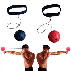 Bola de tênis de bola de luta de boxe com banda de cabeça para treinamento de velocidade de reação reflexo no boxe de perfuração