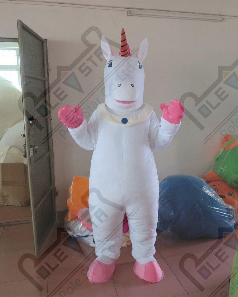 Jednorożec kostiumy maskotki biały koń kostiumy maskotki osioł kostiumy maskotki