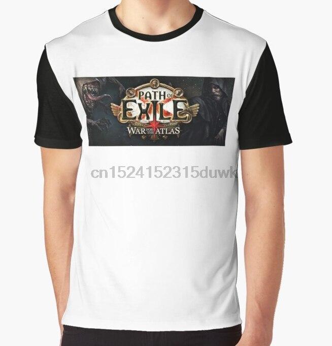 Camiseta estampada para hombre, camiseta divertida para hombres, camiseta gráfica de manga corta con cuello redondo de la guerra del exilio y el Atlas, camiseta para mujer