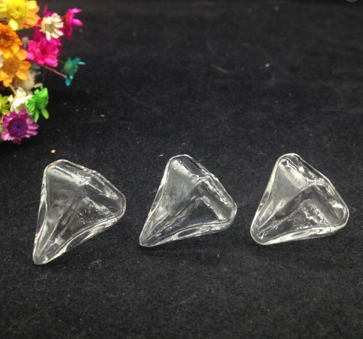 300 jogos/lote nova forma Transparente crystle Miniatura Wishing Garrafa de Vidro Globo Bolha Vial Pingentes diy colar jóias presentes