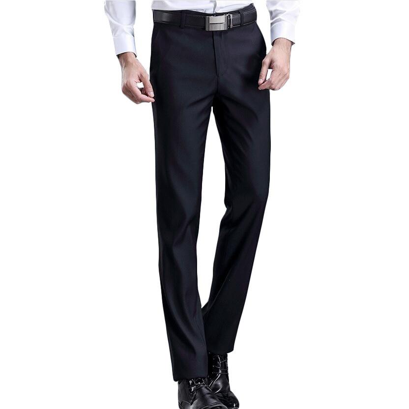 Мужские классические брюки, облегающие шелковые брюки для отдыха, прямые деловые брюки, 28-42, 2019