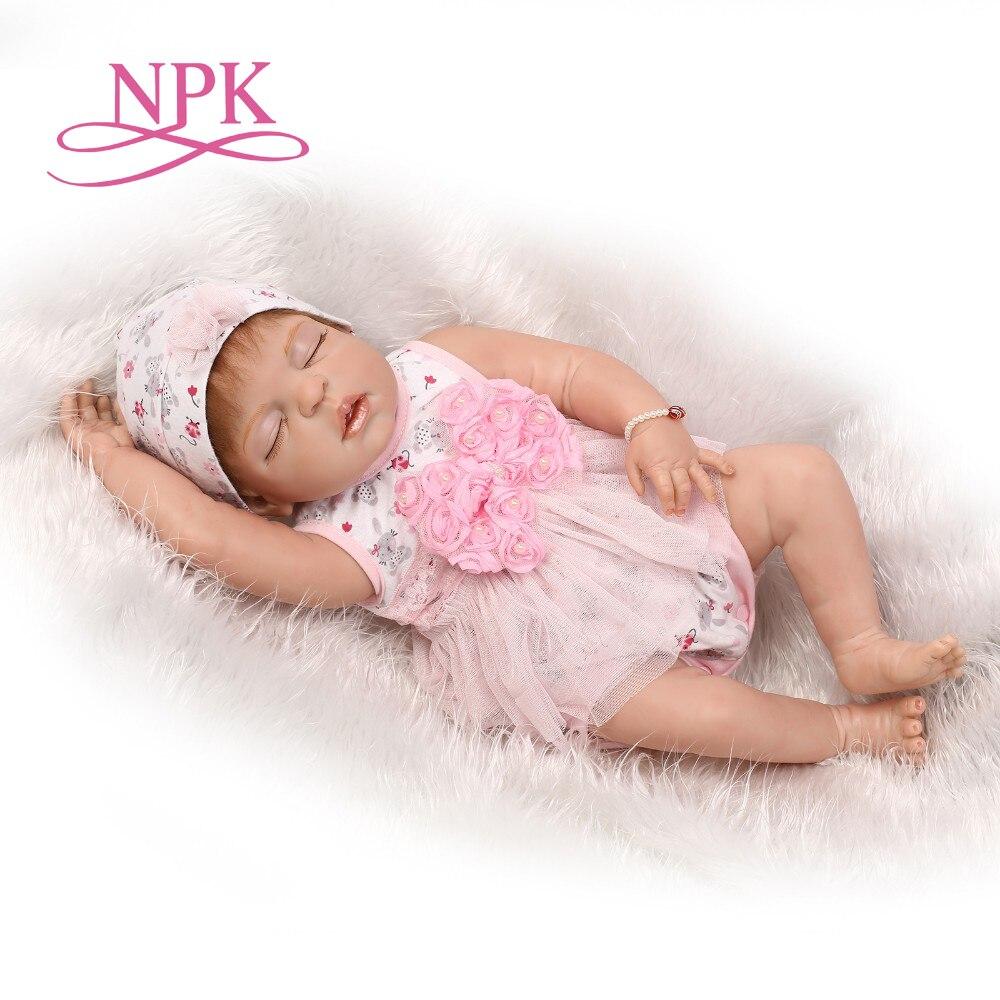 NPK 22 pulgadas vinilo de silicona tacto real suave bebé reborn 55CM realista bebés recién nacidos niños regalo de Navidad bebé dulce