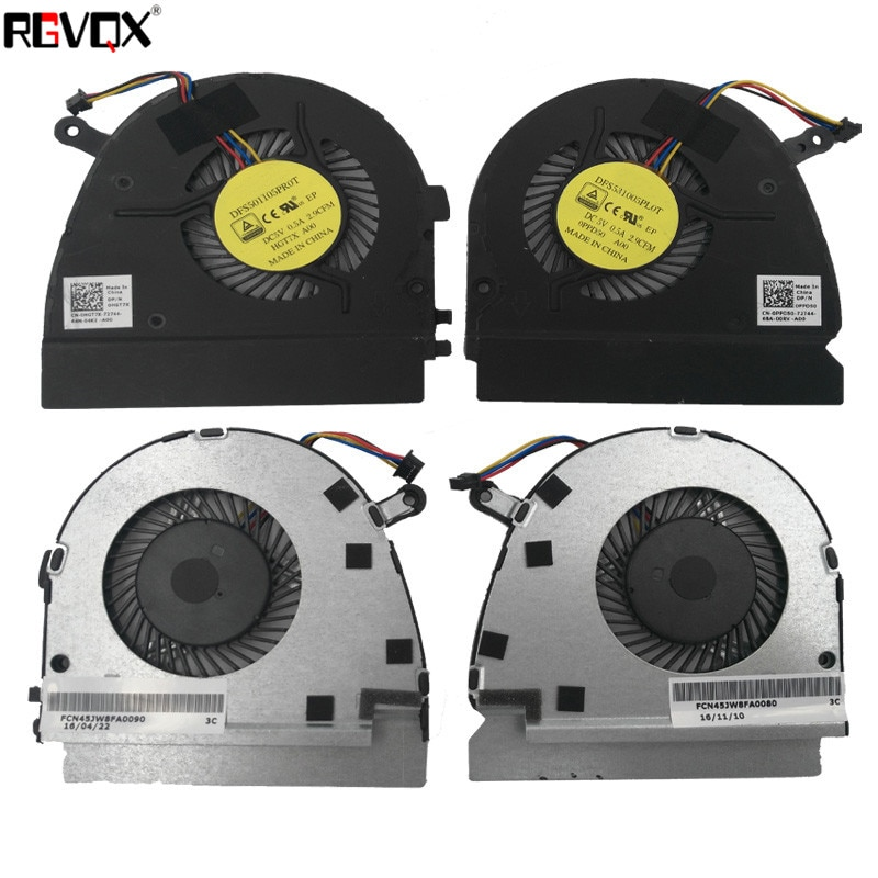 New Cooling Fan For DELL VOSTRO 5460 V5460 V5470 5470 14z-3526 14-5439 Left+Right Fans PN:DFS501105PR0T DFS531005PL0T