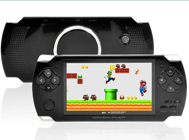 Novo 4 GB de Alta Qualidade MP4 Player MP5 4.3 Polegada S3000 PMP Handheld Game Player de Vídeo FM Câmera Portátil Game Console