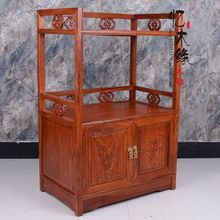 Armoire à thé en acajou   Meuble pour four à micro-ondes, comptoir de salle à manger en bois de rose, petite table à thé, meuble chinois en bois massif, cabine à thé