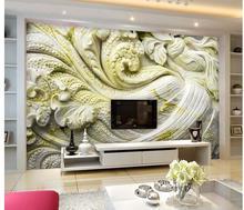 Papier peint classique pour murs   Papier peint personnalisé en relief 3d, fresques en pierre de chou, papier peint classique pour murs
