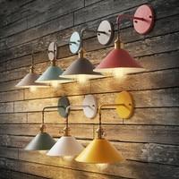 Colored designer creative modern living room wall lamp aisle stairs bedroom bedside lamp Macarons umbrella lamp light