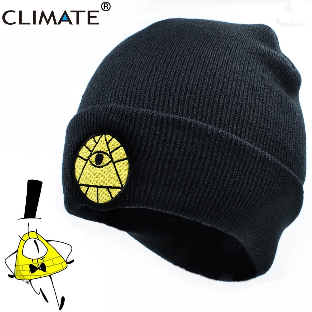 Gorro de dibujos animados climáticos Bill Dipper Mabel Beanie invierno cálido gorro de punto Beanie Boy Bill negro Cool Men acrílico Knit Hat