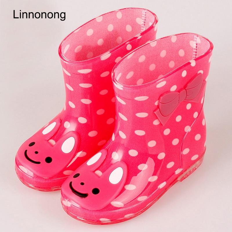 2019 nuevas Botas de lluvia para niñas botas de agua para niños animales PVC antideslizante encantadoras botas impermeables zapatos bonitos para bebés