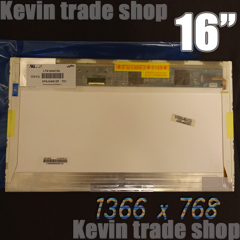 Envío Gratis 16LED pantalla LTN160AT06-A01 LTN160AT06-W01 LTN160AT06-B01 LTN160AT06-H01 LTN160AT06-T01 LTN160AT06 U01 U02 U03 U04