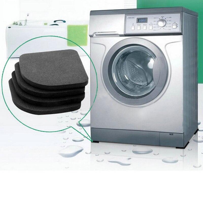 4 pc geladeira anti-vibração almofada esteira para máquina de lavar roupa almofadas de choque para cadeira perna piso antiderrapante tapetes anti ruído conjunto de banheiro