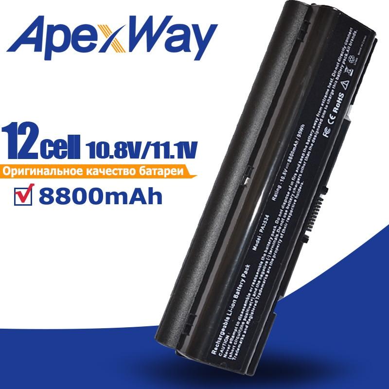8800mAH batería del ordenador portátil para Toshiba pa3534 3534 pa3534u PA3534U-1BAS PA3534U-1BRS satélite A300 A500 L200 L300 L500 L550 L555
