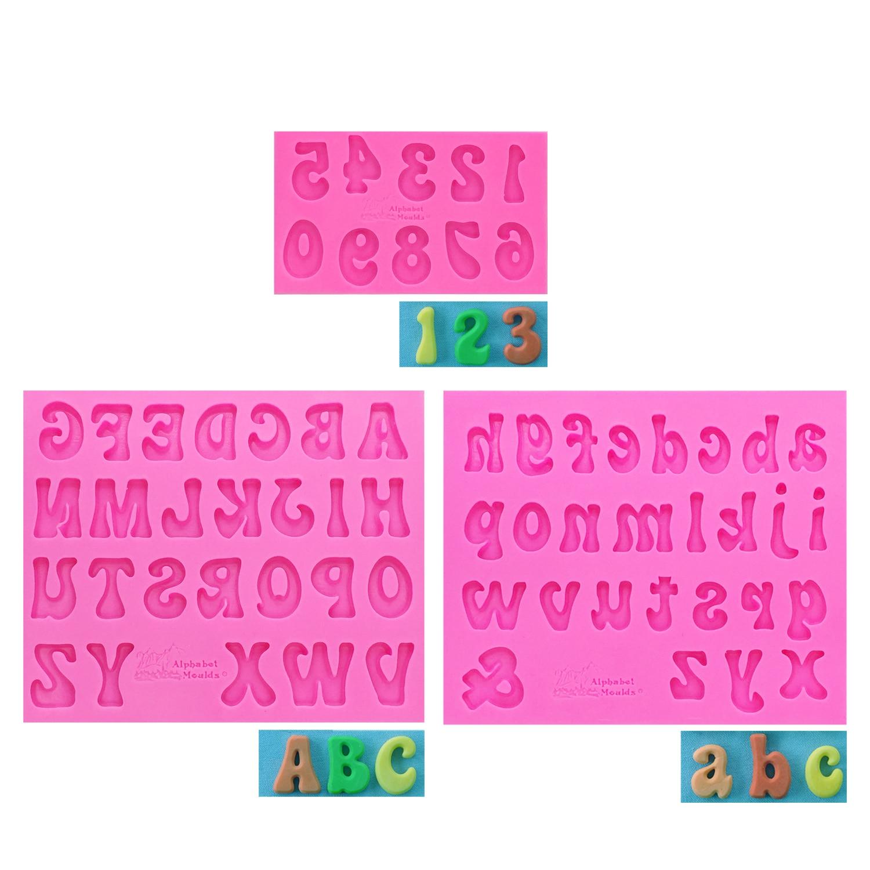 DIY Alpbabeet Letter/Figure/Number silicone fondant mold cake decorating tools chocolate gumpaste mold T1161