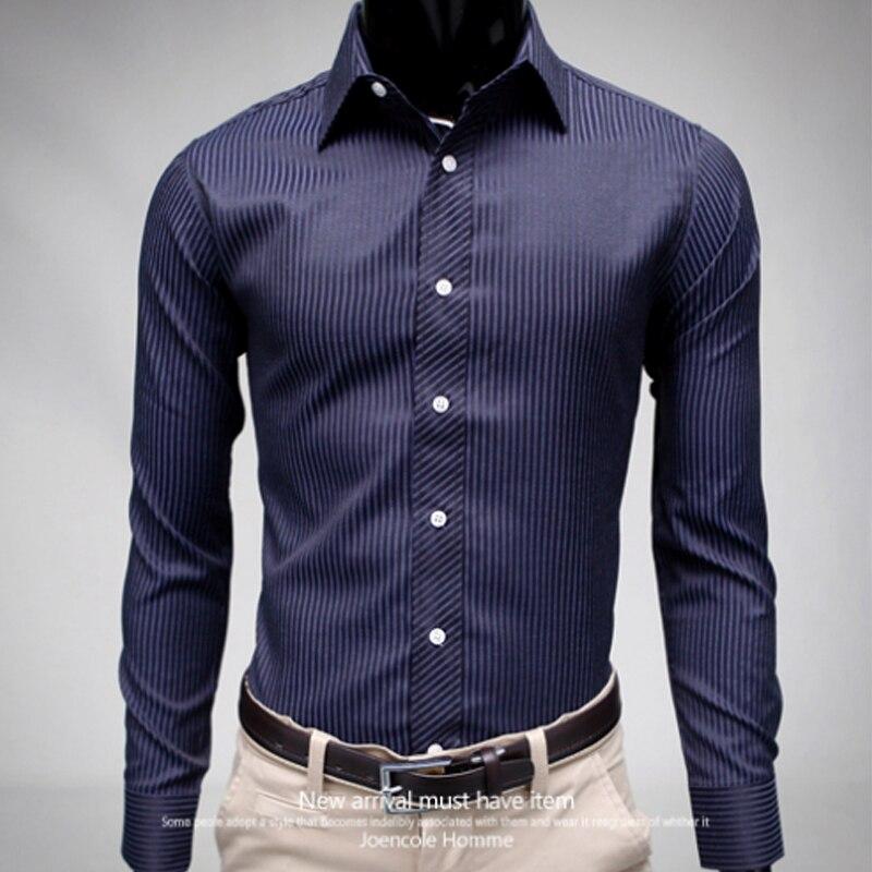 Camisas informales inteligentes para hombre 2018, camisas de manga larga ajustadas para hombre, camisas sociales para hombre de diseñador Chemise Homme XXL 50