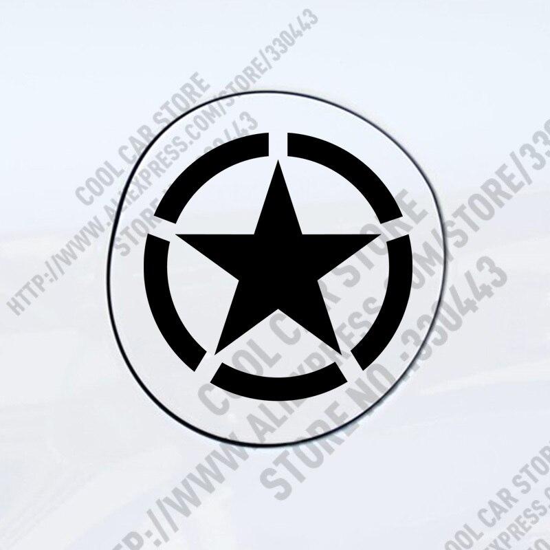 3 Peças Personalidade Aliada Estrelas tampa do tanque de combustível Adesivos de Carro para todos os carros