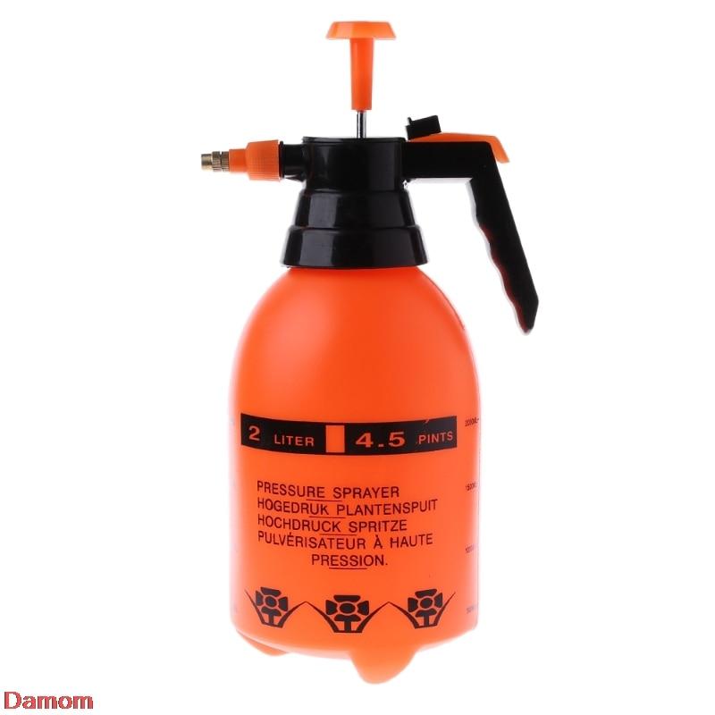 Portable 2.0L Chemical Sprayer Pressure Garden Spray Bottle Handheld Sprayer