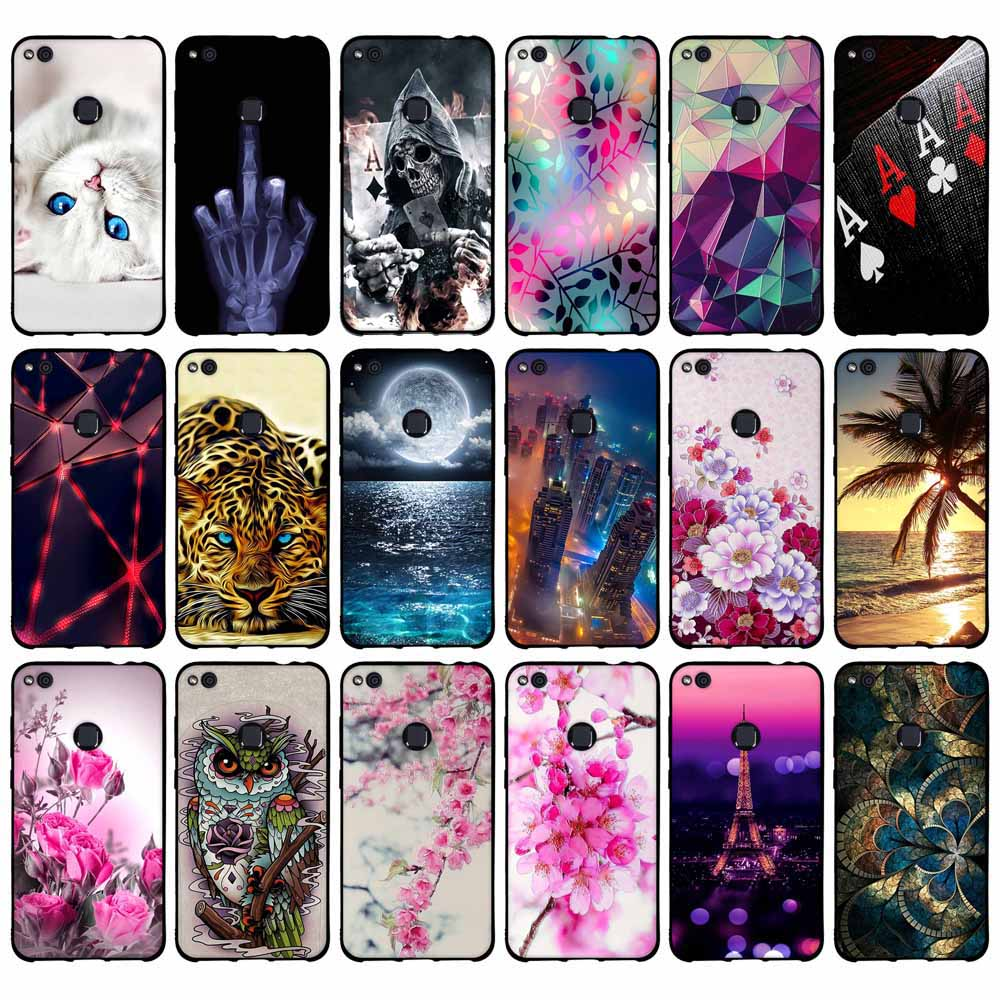 Para huawei p8 lite 2017 caso para huawei honor 8 lite caso capa para huawei nova lite silicone macio caso do telefone para huawei gr3 2017